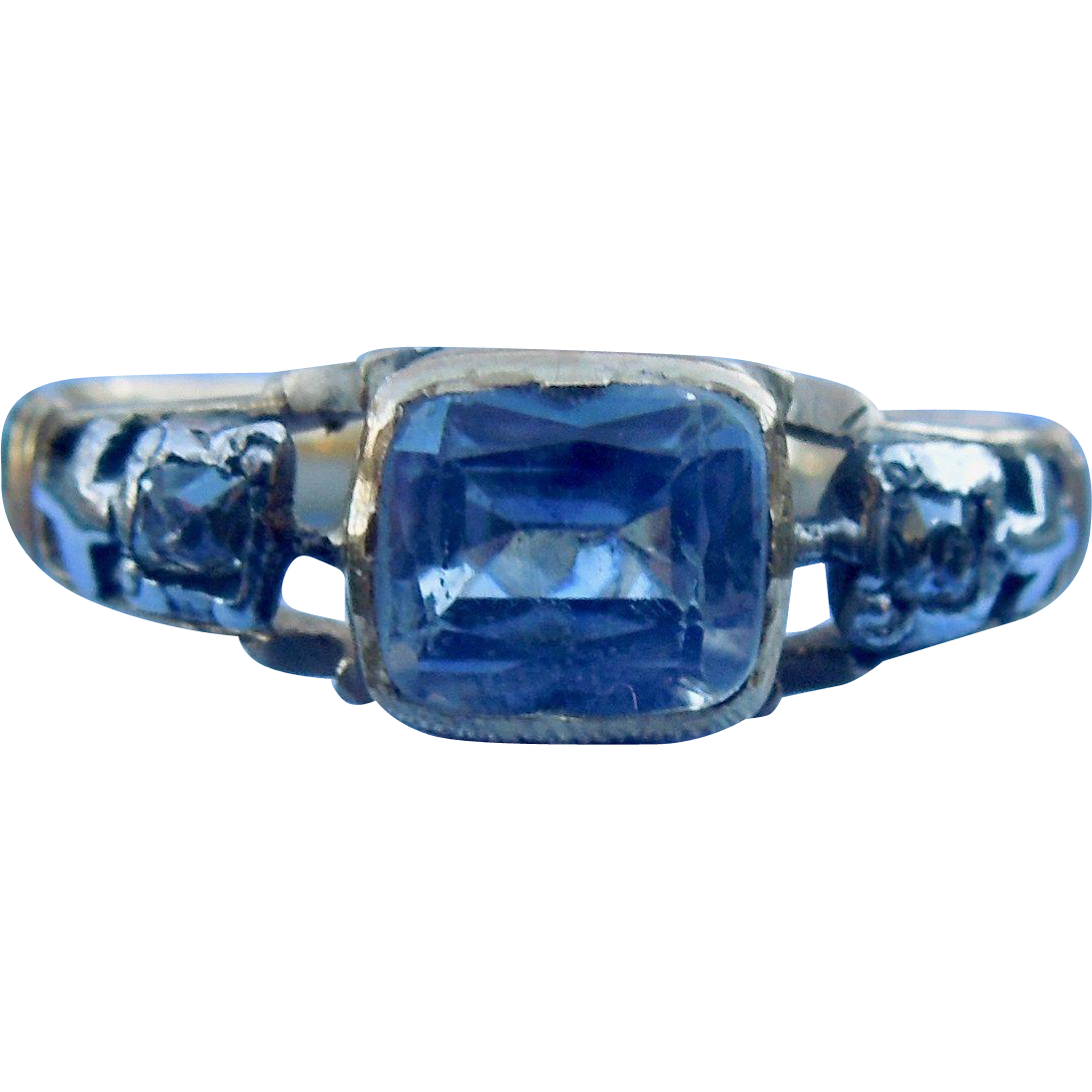 Sapphire and diamond Memorial Ring, 1794
