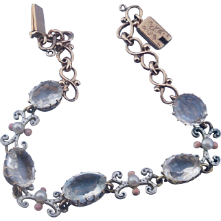15 Carat Rock Crystal and Enamel Bracelet, Victorian