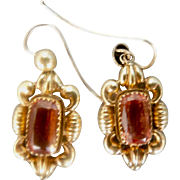 15 cart, Topaz Earrings, Victorian