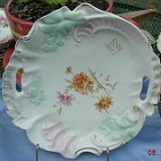 Hand Painted Cake Plate, Victorian