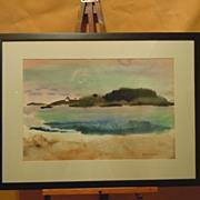 Jason Schoener Maine watercolor landscape American