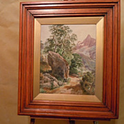 Josef Wenglein watercolor landscape German artist