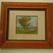 Landscape Pastel by James Dennis Midwest painter