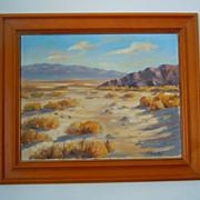 Carl G. Bray desert mountain landscape oil painting