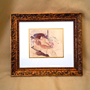 "Wm Cameron watercolor ""Nude Resting"" 1971 California artist"