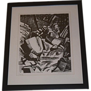 Mary Finley Fry abstract lithograph