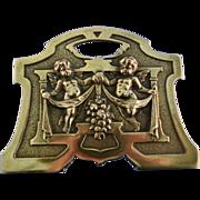 Brass book ends expands Art nouveau style