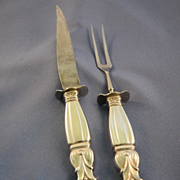 Poultry carving set sterling silver handle