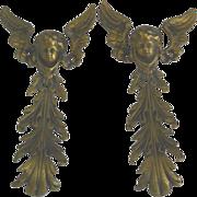 French ormolu angel gilt brass