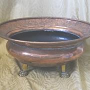 Copper hand made Moroccan brazier