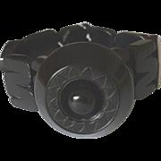 Art deco bakelite black bracelet
