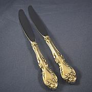 "Gorham Melrose dinner knives sterling silver 8 3/4"""