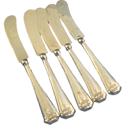 Webster sterling silver handle butter 5 knives