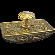 Brass Ink letter Blotter art nouveau