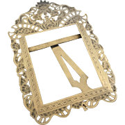 Silver European chased picture frame