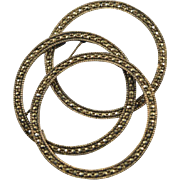 Circle cpin marcasites & sterling silver large brooch