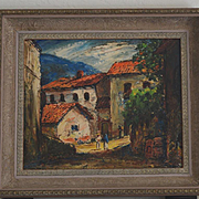Rudolph Schmidt Taxco Mexico landscape oil painting