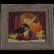Paul A. Schmitt Still Life Cornucopia oil painting