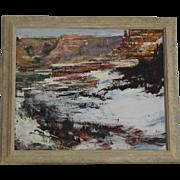 Robert Elsocht oil painting of Arizona Mesas landscape