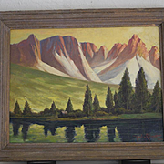 Paul A. Schmitt landsape California Nevada Sierras oil painting