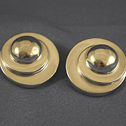 Vintage sterling silver Bayanihan modernist earrings