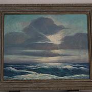 """Paul A. Schmitt """"Lazy Ocean"""" seascape oil painting"""