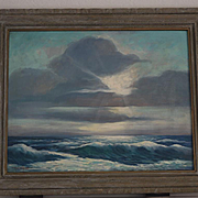 "Paul A. Schmitt ""Lazy Ocean"" seascape oil painting"