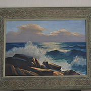 Paul A. Schmitt California Seascape coast oil painting