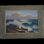 Paul A. Schmitt California Seascape coast oil painting
