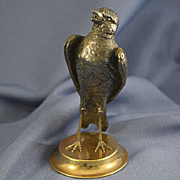 Bronze figure of bird standing