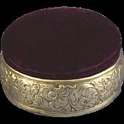 Victorian sterling silver Jewel casket velvet Gorham Whiting