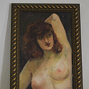 Female nude self portrait Georgia Bemis oil painting