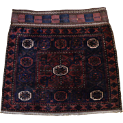 Persian Baluchi carpet saddle bag cover