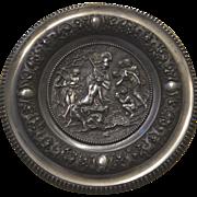 Plaque of Minerva & satyr spelter