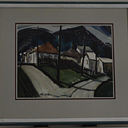 California watercolor cityscape by Ray Wilson