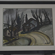 Ray Wilson California hillside landscape watercolor painting