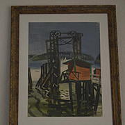 George Post California shoreline watercolor