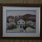 Ray Wilson California farmhouse landscape watercolor
