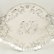Antique Sterling Silver 'Choir of Angels' Tray - 1909 - Bechtler of Allahabad