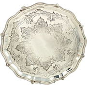 """Antique Silver Plated 12"""" Salver / Tray - c1870"""
