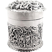Antique Victorian Sterling Silver Vanity Pot - 1900