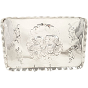 Antique Edwardian Sterling Silver Tray - 1910 - Angels