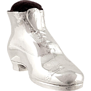 Antique Sterling Silver 'Boot / Shoe ' Pin Cushion 1911