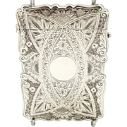 Antique Victorian Sterling Silver Card Case 1899