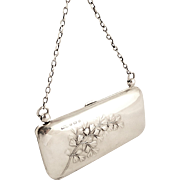 Antique Edwardian Solid Sterling Silver Purse 1906