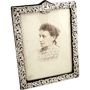 Antique Victorian Sterling Silver Photo Frame 1896 - Red Tag Sale Item