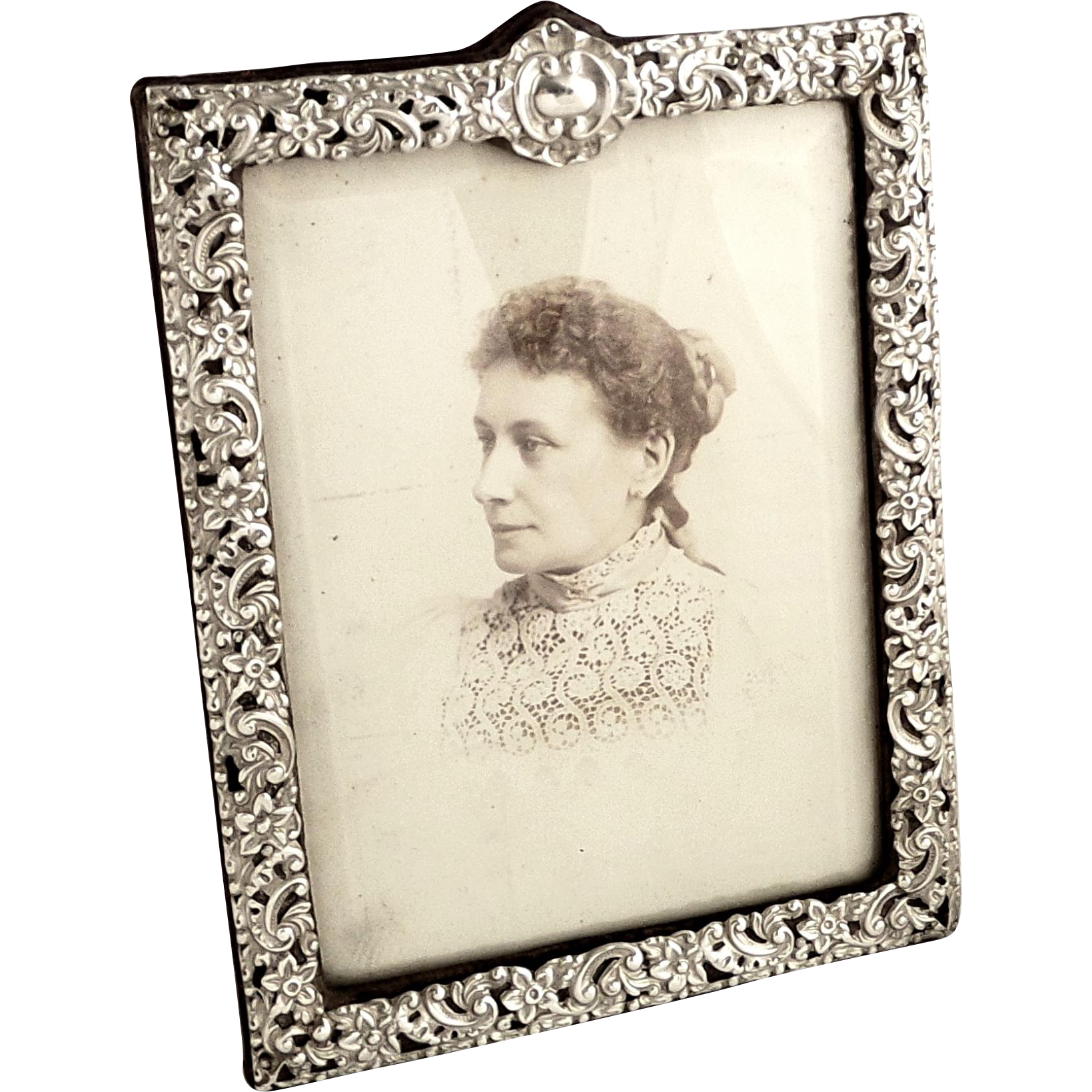 Antique Victorian Sterling Silver Photo Frame 1896 ...