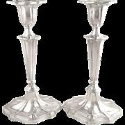 "Pair of Antique Sterling Silver 9 1/2"" Candlesticks  - Goldsmiths & Silversmiths 1902"