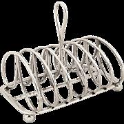 Antique Georgian Sterling Silver Toast Rack 1821