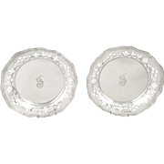 Pair of Antique Victorian Sterling Silver Dishes - 1900 Edinburgh